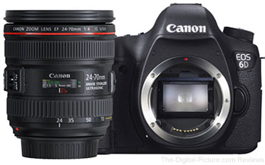 Canon EOS 6D with EF 24-70mm f/4 L IS USM Lens