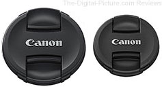 72mm and 58mm Canon Mark II Center-Pinch Lens Caps In Stock