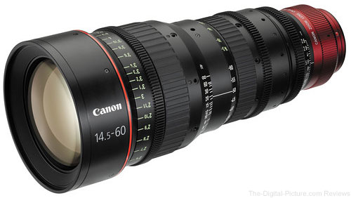 Used Canon CN-E 14.5-60mm T2.6 L S Cinema Zoom Lens with EF Mount
