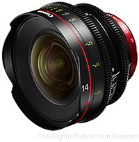 Canon CN-E 14mm T3.1 L F Cinema Prime Lens In Stock at B&H