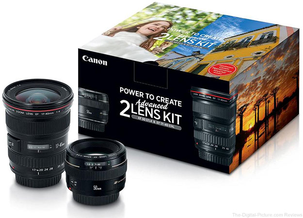 Canon EF 17-40mm f/4L USM / EF 50mm f/1.4 USM Lens Kit - $849.00 Shipped (Reg. $1,199.00)
