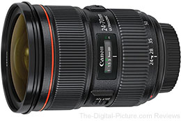 Canon EF 24-70mm f/2.8 L II USM Lens (In Stock at Adorama) - $1,699.00 AR