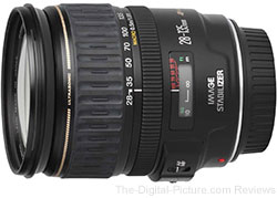 Refurbished Canon EF 28-135mm f/3.5-5.6 IS USM Lens - $219.00 (Compare at $479.00 New)