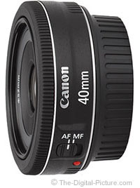 Refurbished Canon EF 40mm f/2.8 STM Pancake Lens - $145.95 (Compare at $191.00)