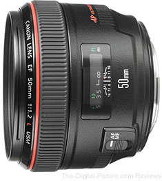 Canon EF 50mm f/1.2L USM Lens - $1,499.00 (Compare at $1,619.00)