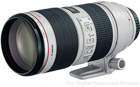 Canon EF 70-200mm f/2.8 L IS II USM Lens - $2,329.00 (New), $1,899.20 (Refurbished)