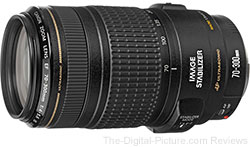 Refurbished Canon EF 70-300mm f/4-5.6 IS USM Lens - $259.99 with Free Shipping (Compare at $537.00 New)