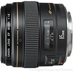 Canon EF 85mm f/1.8 USM Lens - $334.99 (Compare at $359.00)