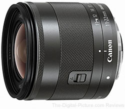 Canon EF-M 11-22mm f/4-5.6 IS STM Lens for EOS M - $445.00