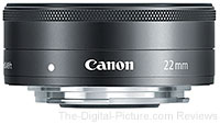 Canon EF-M 22mm f/2 STM Lens for EOS M Mirrorless Camera