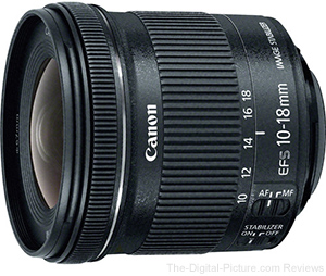 Just Announced: Canon EF-S 10-18mm f/4.5-5.6 IS STM Lens