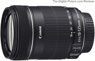 Canon EF-S 18-135mm f/3.5-5.6 IS Lens - $324.00 (Compare at $474.00)