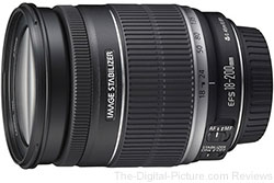 Canon EF-S 18-200mm f/3.5-5.6 IS Lens - $439.99 with Free Shipping (Compare at $569.00)