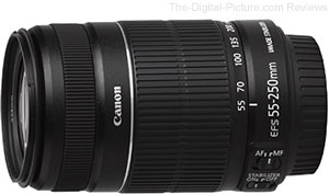Refurbished Canon EF-S 55-250mm f/4-5.6 IS II Lens - $119.99 with Free Shipping (Compare at $265.00 New)