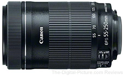 Canon EF-S 55-250mm F/4-5.6 IS STM Lens - $269.00 (Compare at $313.00)