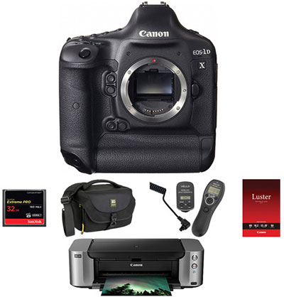 Canon EOS-1D X DSLR Camera with PIXMA PRO-100 Printer Kit - $4,609.00 Shipped AR (Reg. $5,693.99)