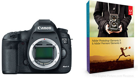 Canon EOS 5D Mark III DSLR Camera & Adobe Software Bundle - $3,235.96 Shipped