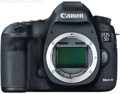 Refurbished Canon EOS 5D Mark III DSLR Camera - $2,799.21 (Compare at $3,499.00 New)