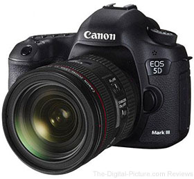 Canon EOS-5D Mark III DSLR Camera Kit with EF 24-70mm f/4L IS Lens