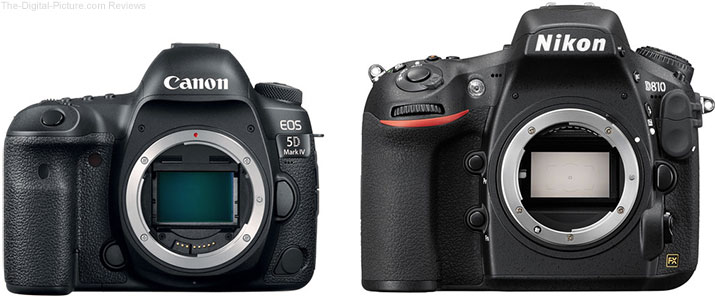 Get Free Stuff with Canon 5D IV / Nikon D810 Bundle Deals at B&H