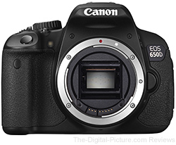 Canon EOS 650D (Rebel T4i) DSLR Body - $559.00 (Compare at $799.00)