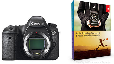 Canon EOS 6D DSLR Camera & Adobe Software Bundle - $1,863.96 Shipped