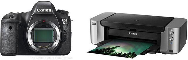 Canon EOS 6D with PIXMA PRO-100 Printer Bundle