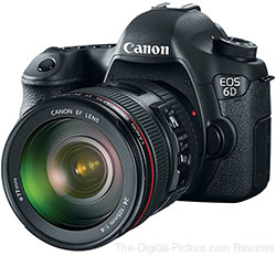 Canon EOS 6D DSLR Camera and EF 24-105mm f/4 L IS USM Lens Kit
