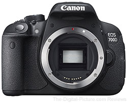 Canon EOS 700D (Rebel T5i) DSLR Camera - $599.00 (Compare at $749.00)