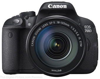 Canon EOS 700D with EF-S 18-135mm IS STM Kit - $879.00 (Compare at $949.00)