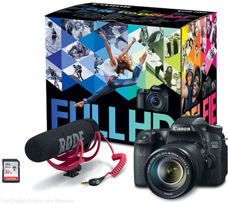 Canon EOS 70D Video Creator Kit