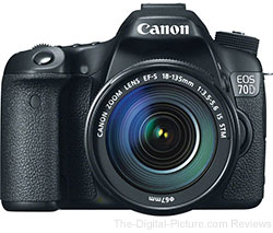 Canon EOS 70D Body - $949.00, EOS 70D + 18-135mm IS STM Kit - $1,199.00
