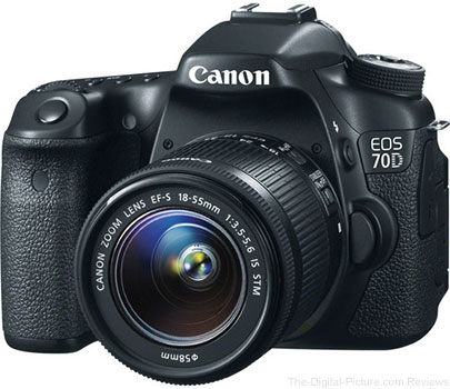 Canon EOS 70D with  EF-S 18-55mm & 55-250mm IS STM Lenses Bundle - $1,283.00