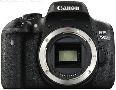 Canon EOS 750D (Rebel T6i) DSLR Camera - $459.99 Shipped (Compare at $749.00)
