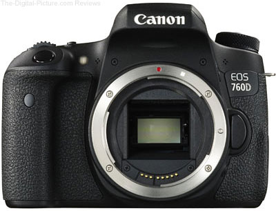 Canon EOS 760D (Rebel T6s) DSLR Camera Body - $599.00 (Compare at $849.00)