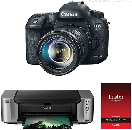 Canon EOS 7D Mark II DSLR with EF-S 18-135 IS STM Lens and PIXMA PRO-100 Printer Kit - $1,499.00 Shipped AR (Reg. $1,869.00 AR)