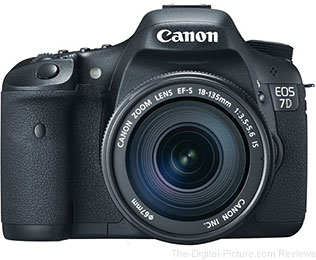 Canon EOS 7D DSLR Camera with EF-S 18-135mm f/3.5-5.6 IS Lens