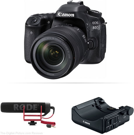 Canon's New 80D/EOS M3 Video Creator Kits Available for Preorder