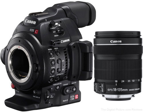 Canon EOS C100 Mark II with EF-S 18-135mm IS STM Lens