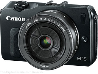 In Stock: Canon EOS M with EF-M 22mm or 18-55mm Lens – $299.00 or $349.00
