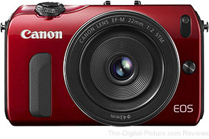 Canon EOS M with 22mm f/2 STM Lens (Red)