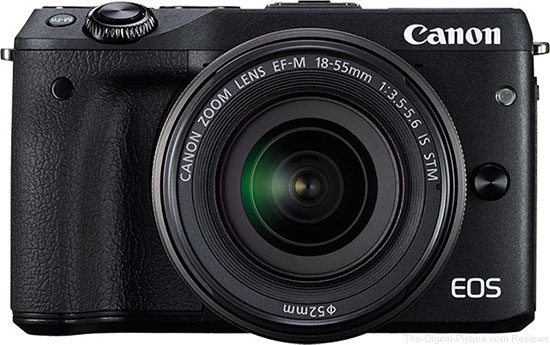 Canon EOS M3 with EF-M 18-55mm IS STM In Stock at DigitalRev