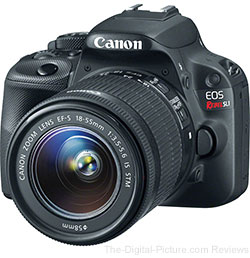Canon EOS Rebel SL1 with EF-S 18-55mm IS STM & 55-250mm IS Lenses - $539.99 Shipped