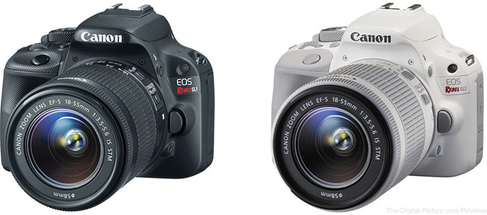 Canon EOS SL1 with EF-S 18-55 IS STM (Black / White)