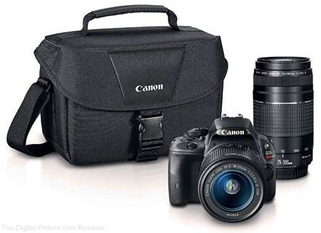 Canon EOS Rebel SL1 DSLR Camera with 18-55mm and 75-300mm Lenses - $499.00 Shipped (Reg. $899.00)
