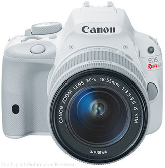 White Canon EOS Rebel SL1 Kit Qualifies for $150.00 Instant Rebate