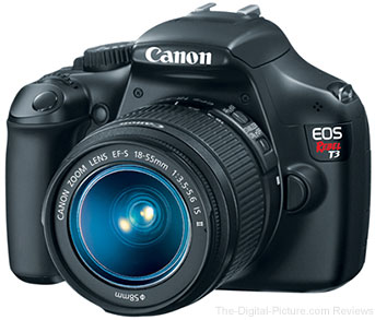Canon EOS Rebel T3 DSLR with EF-S 18-55mm IS II Lens