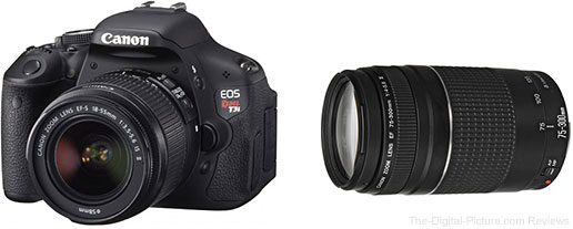 Canon EOS Rebel T3i DSLR Camera with 2 Lenses Kit
