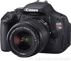 Refurbished Canon EOS Rebel T3i (600D) DSLR Camera & 18-55mm IS II Lens Kit - $539.95 Shipped (Compare at $629.00 New)