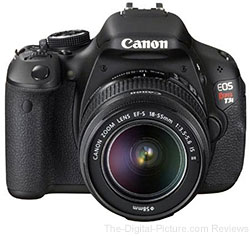 Canon EOS Rebel T3i DSLR with EF-S 18-55mm IS II Lens